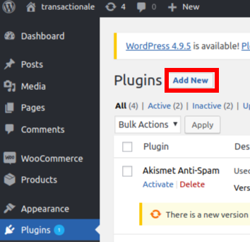 How to install and configure the Woocommerce plugin | Transactionale